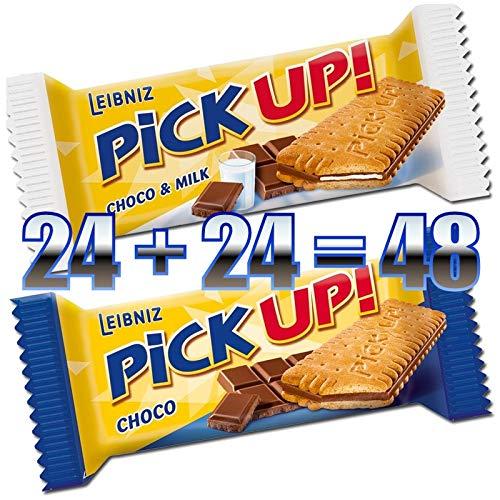 48x PiCK UP! Mini im Mix: 24x Choco + 24x Choco und Milk (24 + 24 = 48x 10 g), einzeln verpackt