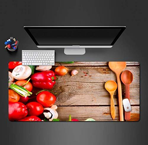 Muis Pad Voedsel Muis Pad Pc Gaming Computer Muis Bureau Matten Om Gamer'S Favoriete Antislip Draag Rubber Zacht Tafelblad Pc Bureau Mat 900 * 400 * 3Mm