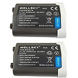 WELLSKY EN-EL18c EN-EL18b EN-EL18a EN-EL18 [ 2個セット ] 互換バッテリー 3300mAh [ 純正品と同じよう使用可能 純正充電器で充電可能 残量表示可能 ] ニコン D4 / BL-5 / BL-6 / MB-D12 / MB-D18 / D4s / D5 / D6