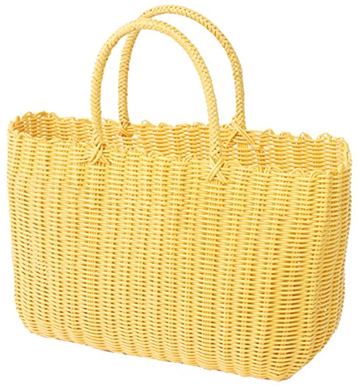 ネクタイライン不潔村田屋産業 バッグ イエロー 約48×24×29cm(持ち手含む高さ43cm)