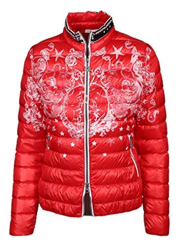 Sportalm Damen Daunenjacke mit maritimem Print Größe 36 EU Rot (rot)