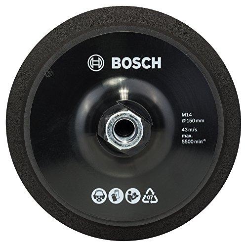 Bosch 2 608 612 027 - Plato de goma M 14, Ø 150 mm, con velcro - M 14, Ø 150 mm (pack de 1)