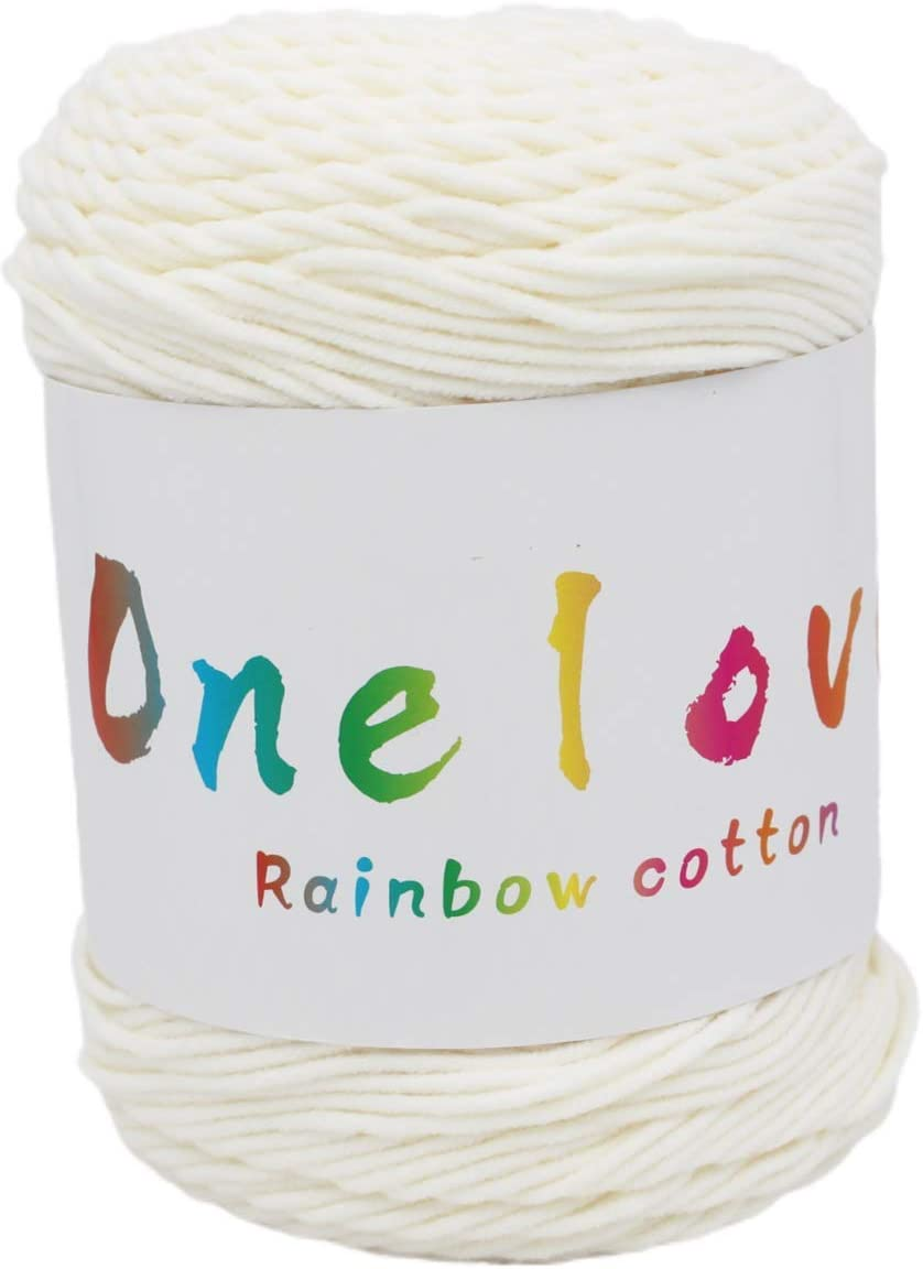 Colorful New Popular overseas Shipping Free Life Rainbow Cotton Knitted Blen Yarn,Handmade