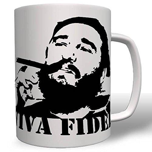 Viva Fidel Alejandro Castro Ruz Kuba Revolution Chef Regierungschef Revolutionär Politiker Präsident Retro Kult 68er Gedenk Todestag Kaffee Becher - Tasse #16748
