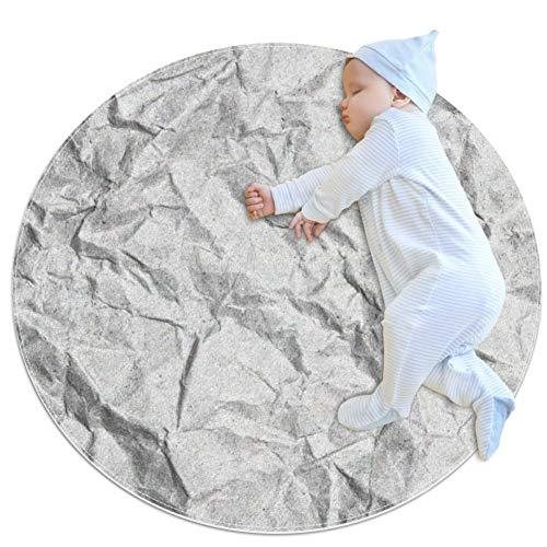 ASDFSD Vintage Textur-Teppich Baby Boden Krabbelmatte Spieldecke für Kinderzimmer Dekoration, 70 x 70 cm, mehrfarbig03, 100x100cm/39.4x39.4IN