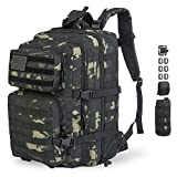 GZ XINXING 3 Day Assault Pack Military Tactical Army Molle Rucksack Backpack Bug Out Bag Hiking Daypack for Hunting Camping Hiking Traveling (Black Multicam)