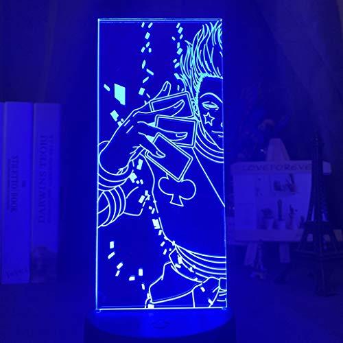 3D Night Light Illusion lamp Acrylic Led Color Changingfor Kids Bedroom Decoration Anime Hunter Hisoka Gift KATA