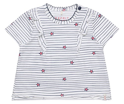 ESPRIT KIDS Baby-Mädchen RL1011102 T-Shirt, Weiß (White 010), 68
