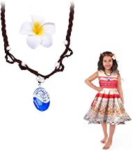 LEECCO Pendant Necklace for Princess Moana Cosplay Girl Nceklace Accessory Movie Gift for Girls | Heart of Te Fiti Gorgeous Blue Pendant,Children Adults Kids Toys Princess Doll Birthday