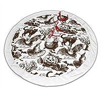 ハロウィンキャットパムキン クリスマスツリースカート おしゃれ 円形 ツリースカート クリスマスツリー デコレーション 屋内 屋外 雰囲気 クリスマスパーティー 飾り 豪華 クリスマス プレゼント