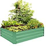 FOYUEE Metal Raised Garden Bed Kit Elevated Planter Box Outdoor Patio...