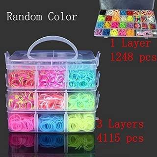 Li-yan DIY Loom Band Rubber Band Kids Bracelet Silicone Loom Bands 3 Layer PVC Box