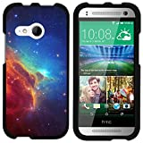 TurtleArmor   Compatible with HTC One M8 Mini Case   One Mini 2   One Remix [Slim Duo] Two Piece Hard Cover Slim Snap On Case on Black - Colorful Nebula Galaxy