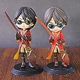 cheaaff Figura de acción de Anime The Goblet of Fire Daniel Quidditch Style Q Posket Dolls PVC Figura Colección Juguetes 2Pc / A Set
