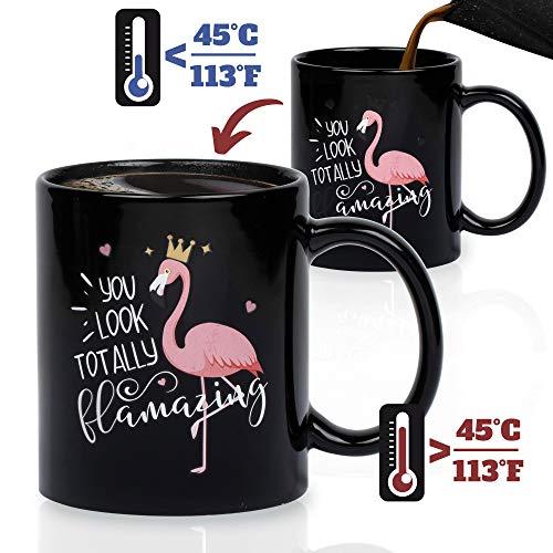 Onebttl Lustige Flamingo Zaubertasse mit Thermoeffekt - Tassen mit Sprüchen Lustig