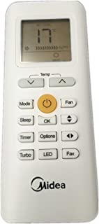 Generic rg70C/BGEF mando a distancia para Midea aire acondicionado rg70a/BGEF rg70e/BGEF rg70e1/BGEF cr170