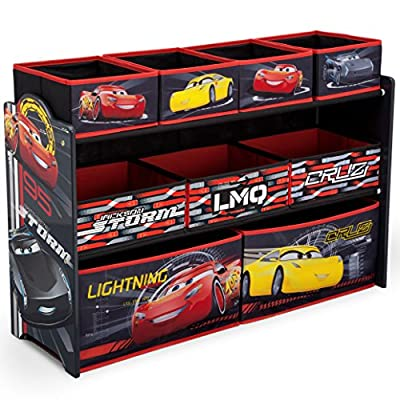 Delta Children Deluxe 9-Bin Toy Storage Organizer, Disney/Pixar Cars