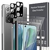 LK 4 Stück Panzerglas kompatibel mit Samsung Galaxy Note 20, 2 Schutzfolie & 2 Kamera Panzerglas, Fingerabdruck-ID Unterstützt, 9H Festigkeit Glasfolie, HD Klar Bildschirmschutz, Kratzen