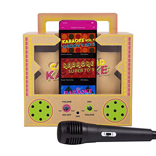 Fizz Creations New Bluetooth Wireless Cardboard Karaoke
