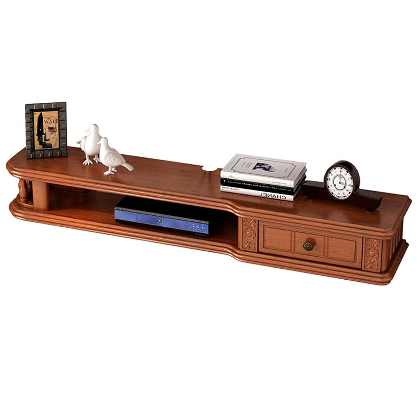 遠洋の邪魔する思いやりFU HOME フローティング壁棚テレビキャビネットテレビスタンドセットトップボックス棚テレビコンソール収納ユニットオーガナイザー棚用ケーブルボックス (色 : Brown, サイズ さいず : 100cm)