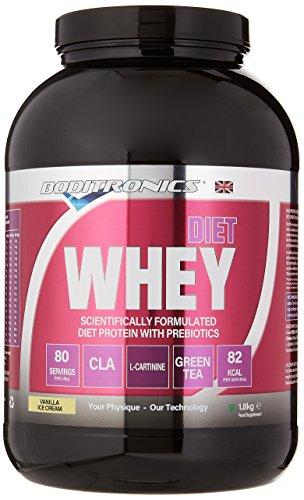 Boditronics Diet Whey Protein Powder, 1.8kg Vanilla