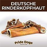 PrideDogs Rinderkopfhaut 1000g der Premium Kausnack für Ihren Hund | 100% Rind aus Deutscher...