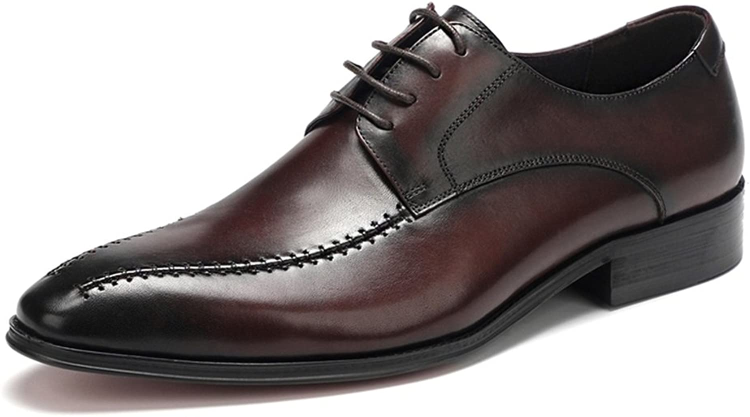 HUAN Men's Business shoes Spring Fall Comfort Oxfords Pointed Toe Leather Formal shoes Dress Wedding Evening Party