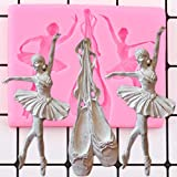 CSCZL Zapatos de Ballet Molde de Silicona Bailarina niñas cumpleaños Fondant Herramienta de decoración de Tartas Cupcake Topper Caramelo Chocolate Gumpaste Molde