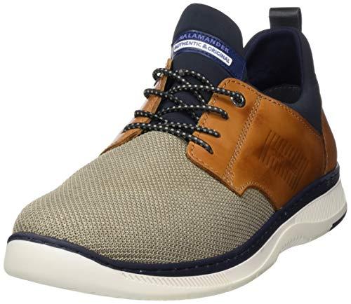 Salamander Herren PORTHOS Slip On Sneaker, Braun (Beige, Cognac, Blue 37), 45 EU