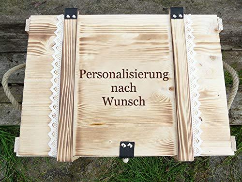 Holz Erinnerungskiste Vintage personalisiert nach Wunsch - Holzkiste mit Gravur - Baby Erinnerungsbox - Hochzeitstruhe - Geburtstagskiste - Erinnerungskiste mit Gravur - Erinnerungsbox perosnalisiert