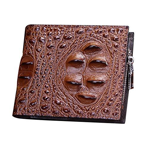 EEKUY Tragbare Lederbrieftasche, Krokodilleder-Brieftaschen-Kartenpaket für 9 Karten in bar 4,7 × 1 × 3,94 ''