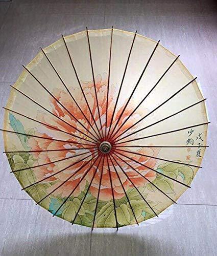 Ethan geolied papier vouwen paraplu houten regen vrouwen decor transparante dans pioen bloem Chinese Japan parasol