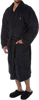 Men's Microfiber Plush Long Sleeve Shawl Collar Robe