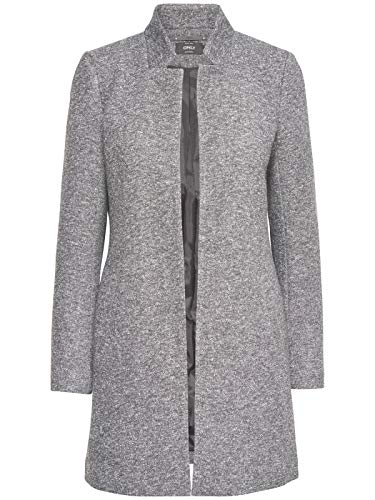 ONLY Damen Jacke Kurz-Mantel onlSoho Light Coating, Farbe:Hell grau, Größe:XS