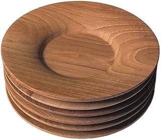 風景ドットコム 木製 110mm 茶托 ナチュラル 5枚組
