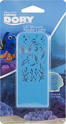 Disney/Pixar Buscando a Dory Silueta Luz Noche, Always On, LED de larga duración, ideal para dormitorio, guardería, baño, pasillo, escaleras, 32518