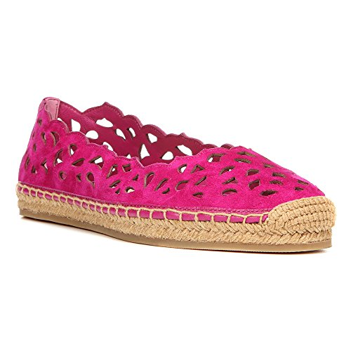 Via Spiga Women's Bellerose Fuchsia Kid Suede Leather Flat 8.5 M