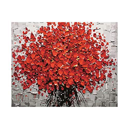 Schilderen op cijfers volwassenen Het digitale schilderij van bloemen voor volwassenen, liefhebbers, handgemaakt schilderij is van bijzondere betekenis. Frameloze 60 x 70 cm