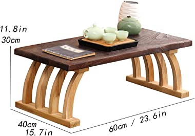 Side Table Coffee Table Bed Antique Study Table Tea Table, Used in The Bedroom Living Room Balcony Flower Pot Shelf Bay Windo