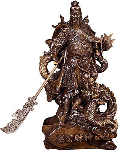Figura de Feng Shui Estatua de Guan Yu Colección de estatuas de Guan Gong Atrae riqueza y buena suerte Artículos de decoración de escritorio para el hogar Three Kingdoms Hero Fortune Protection Stat