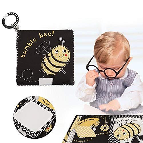 Livres de Jouets de Bébé Livre D'éveil Enfant Premier Livre Découvertes Livre à Surprises Outil Apprentissage de Bébé Cadeaux pour Naissance Garçon Fille de 0 à 3 Ans(Black)