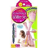 スリムウォーク 足指セラピー (オールシーズン用) ショートタイプ M-Lサイズ マーブルピンク(SLIM WALK,split open-toe socks,ML)