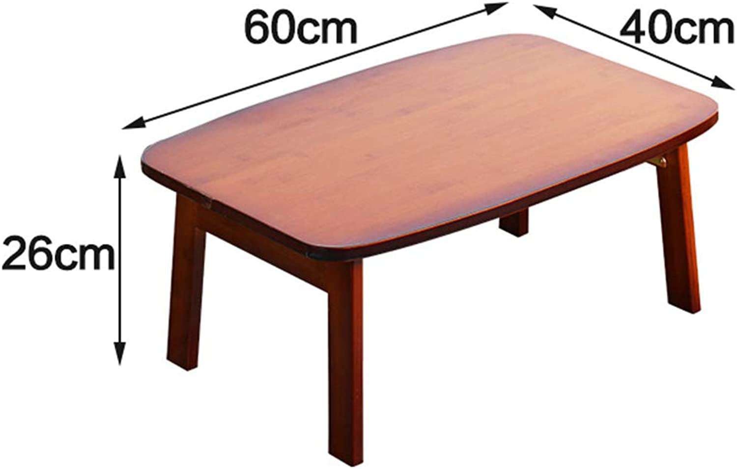 XIAOYAN End Table Bamboo Notebook Table Bed Foldable Table Bay Window Table Lazy Desk Study Table Multifunction (color   Brown (Conventional), Size   40  60  26cm)