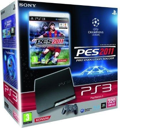 Console PS3 320 Go noire + PES 2011 : Pro Evolution Soccer