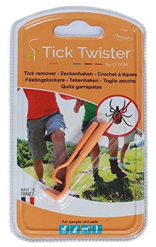 O´Tom / Tick Twister Zeckenhaken Zeckenzange Hundezeckenzange Zeckenzieher Hundezeckenzieher (orange)