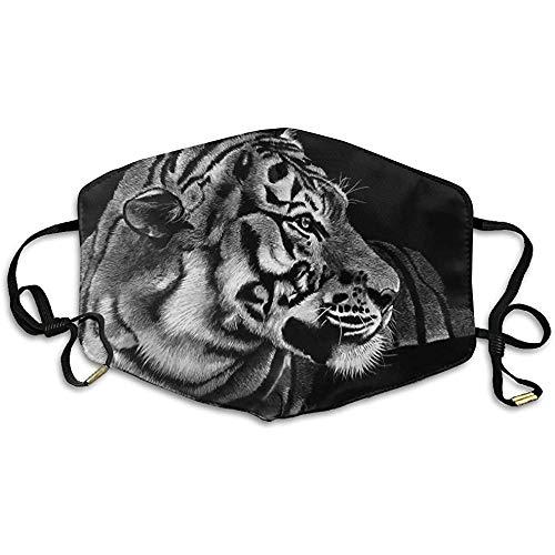 Maschere per la bocca unisex Grandi gatti Tigri Pittura Anti polvere Anti inquinamento Poliestere Maschera per il viso Riutilizzabile