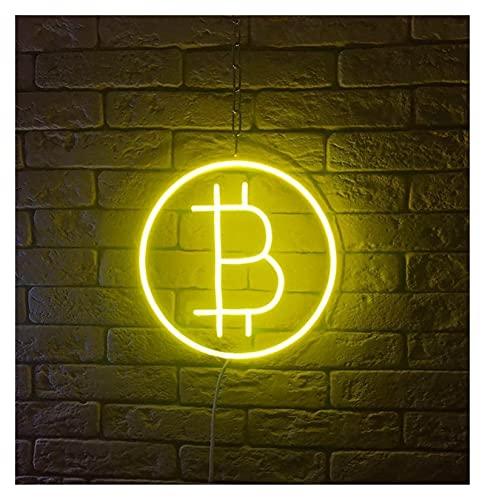 Ideal Custom Shop Fuente de alimentación USB de 5v con señal de neón Bitcoin Personalizada con atenuadores táctiles para decoración de Pared de Dormitorio, Tienda, Empresa financiera