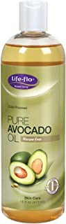 Life-flo Pure Avocado Oil | Cold-Pressed | Rich Moisturizer for Dry Skin, Hair and Scalp | Food Grade, No Hexane, 16oz