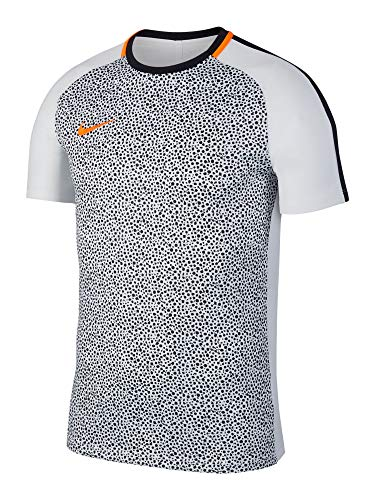 Nike Dry Academy Top SS Maglia da Allenamento, Uomo, AJ4231-100, White/Black/Orange, XXL