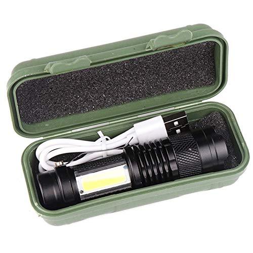 ZOOM FOCUS Mini LED Linterna Linterna ajustable a prueba de agua para exteriores (Emitting Color : Package A)